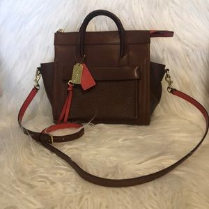 Coach small tote hand held/cross body